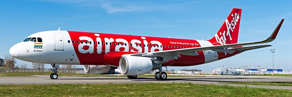 Avión de AirAsia antes del vuelo